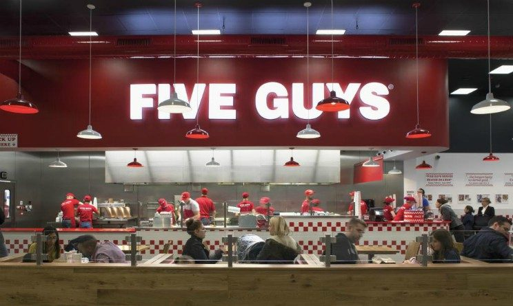 Five Guys apre nuovo ristorante a Roma e assume personale