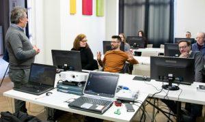 Insegnanti e studenti in Click Academy