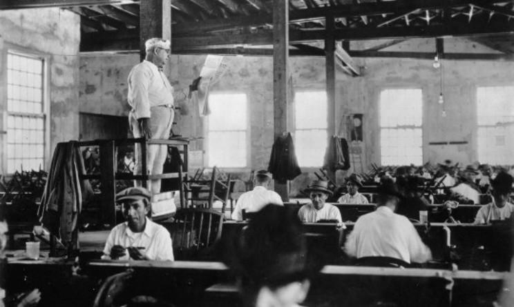 Il lettore nelle fabbriche di sigari